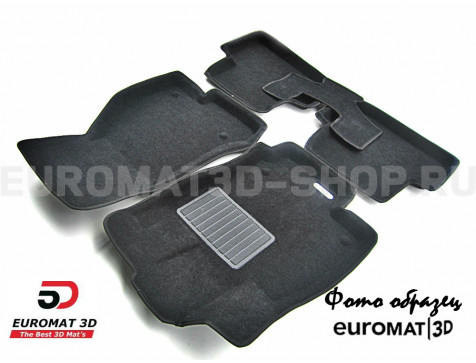 Текстильные 3D коврики Euromat3D Business в салон для Saab 9-5 (2005-2012) № EMC3D-004301