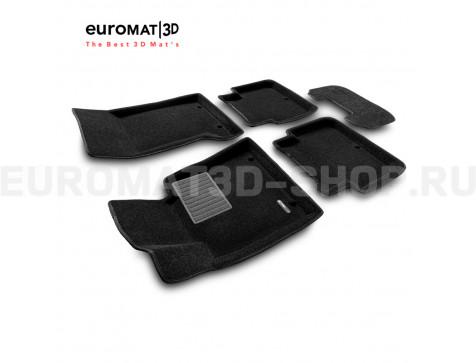 Текстильные 3D коврики Euromat3D Business в салон для Genesis G80 (2014-) № EMC3D-002705