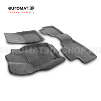Текстильные 3D коврики Euromat3D Business в салон для Jeep Grand Cherokee (2010-) № EMC3D-002760G (Серые)