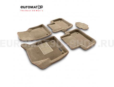 Текстильные 3D коврики Euromat3D Business в салон для Land Rover Discovery Sport (2015-) № EMC3D-003107T Бежевые