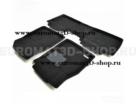 Текстильные 3D коврики Euromat3D Business в салон для Lexus ES (2010-2014) № EMC3D-003210