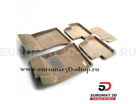 Текстильные 3D коврики Euromat3D Business в салон для Mercedes B-Class (W246) (2011-2018) № EMC3D-003516T Бежевые