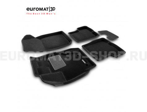 Текстильные 3D коврики Euromat3D Business в салон для Renault Duster (2015-2020) № EMC3D-004209