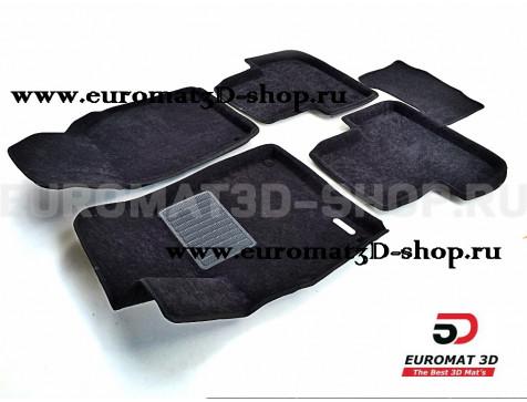 Текстильные 3D коврики Euromat3D Business в салон для Volkswagen Passat B4 (1988-1996) № EMC3D-005430