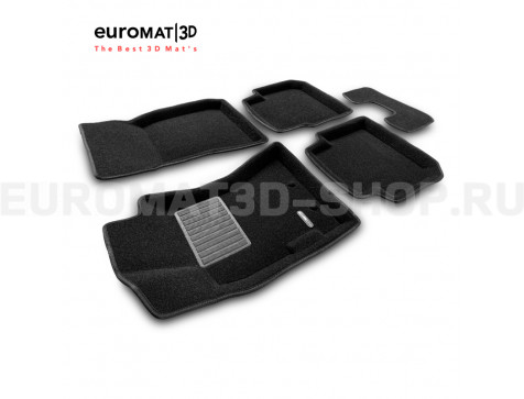 Текстильные 3D коврики Euromat3D Business в салон для Subaru Forester (2005-2008) № EMC3D-004700