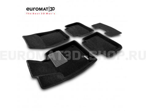Текстильные 3D коврики Euromat3D Business в салон для Volvo S90 (2017-) № EMC3D-005510