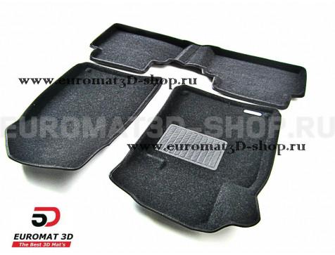 Текстильные 3D коврики Euromat3D Business в салон для Peugeot 407 (2004-2010) № EMC3D-003908