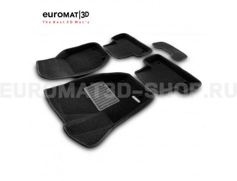 Текстильные 3D коврики Euromat3D Business в салон для Volvo V40 (2012-) № EMC3D-005503
