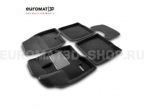 Текстильные 3D коврики Euromat3D Business в салон для Ford Explorer (2011-2014) № EMC3D-002218