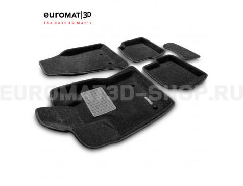 Текстильные 3D коврики Euromat3D Business в салон для Jeep Compass (2018-) № EMC3D-002762