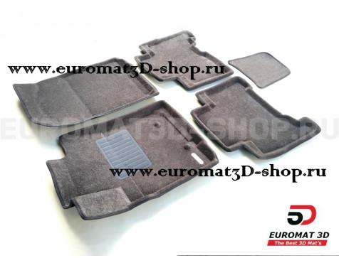 Текстильные 3D коврики Euromat3D Business в салон для Toyota 4Runner (2002-2009) № EMC3D-005141G Серые