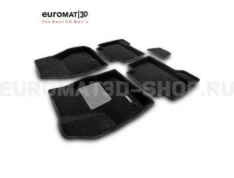 Текстильные 3D коврики Euromat3D Business в салон для Ford Kuga (2008-2012) № EMC3D-002208