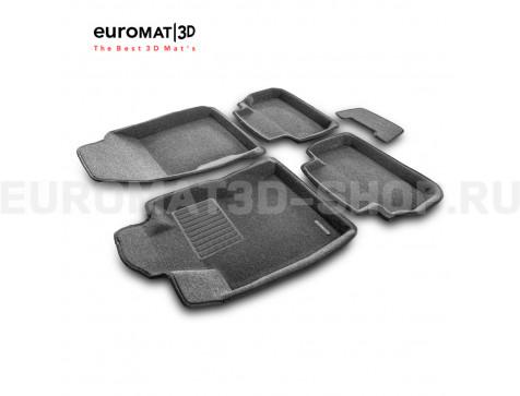 Текстильные 3D коврики Euromat3D Business в салон для Subaru Forester (2018-) № EMC3D-004702G Серые