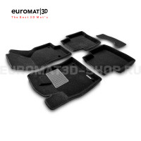 Текстильные 3D коврики Euromat3D Premium в салон для Volkswagen Passat B8 (2016-) № EMPR3D-004510