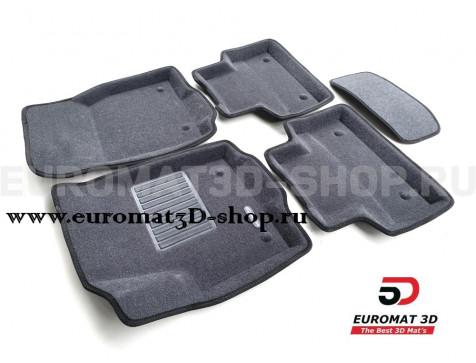 Текстильные 3D коврики Euromat3D Business в салон для Jaguar E-Pace (2018-) № EMC3D-002757G Серые