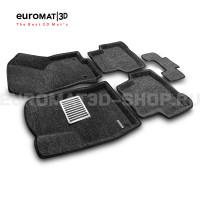 Текстильные 3D коврики Euromat3D Lux в салон для Volkswagen Passat B8 (2016-) № EM3D-004510G Серые