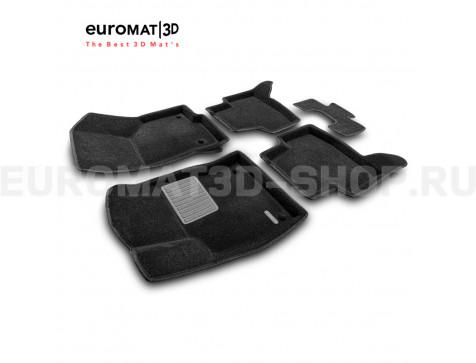 Текстильные 3D коврики Euromat3D Business в салон для Seat Leon (2012-2020) № EMC3D-004507