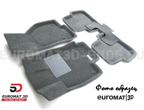 Текстильные 3D коврики Euromat3D Business в салон для Land Rover Discovery III (2005-2009) № EMC3D-003100G Серые