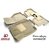 Текстильные 3D коврики Euromat3D Business в салон для Datsun Mi-Do (2015-2020) № EMC3D-005310T Бежевые