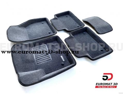 Текстильные 3D коврики Euromat3D Business в салон для Land Rover Range Rover Evogue (2019-) № EMC3D-003110G Серые