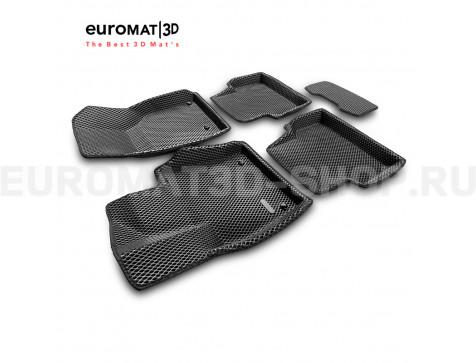 3D коврики Euromat3D EVA в салон для Audi Q3 (2012-2019) № EM3DEVA-001113