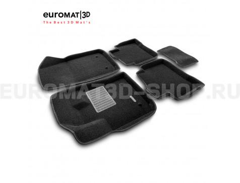 Текстильные 3D коврики Euromat3D Business в салон для Geely Tugella FY11 (2020-) № EMC3D-001408