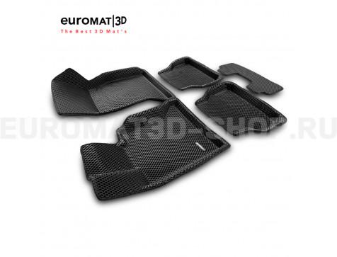 3D коврики Euromat3D EVA в салон для Bmw 5 (E60) (2003-2010) № EM3DEVA-001204