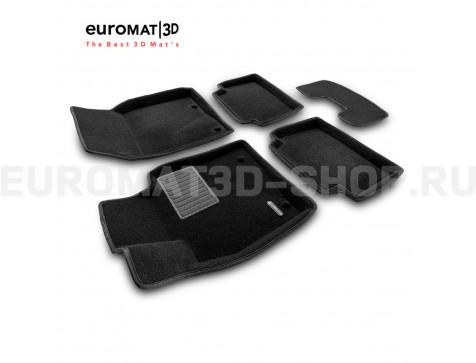 Текстильные 3D коврики Euromat3D Business в салон для Mazda CX-30 (2021-) № EMC3D-003400