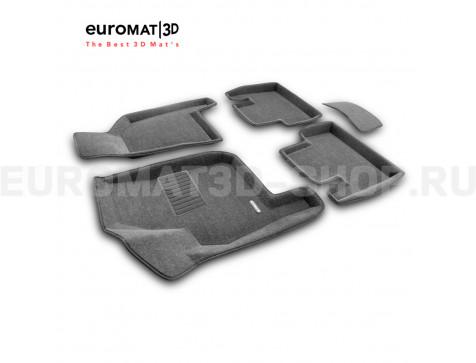 Текстильные 3D коврики Euromat3D Business в салон для Lada Priora (2007-) № EMC3D-005307G Серые