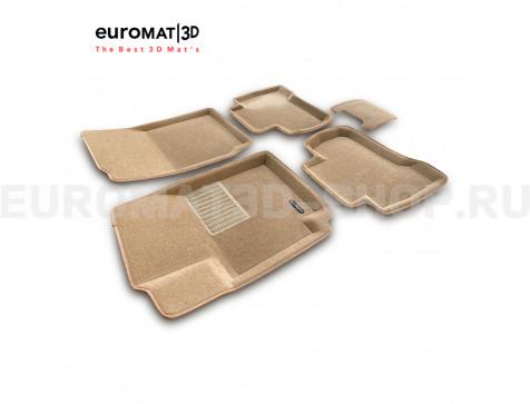 Текстильные 3D коврики Euromat3D Business в салон для Suzuki Grand Vitara (5дв) (2005-2014) № EMC3D-004801T Бежевые